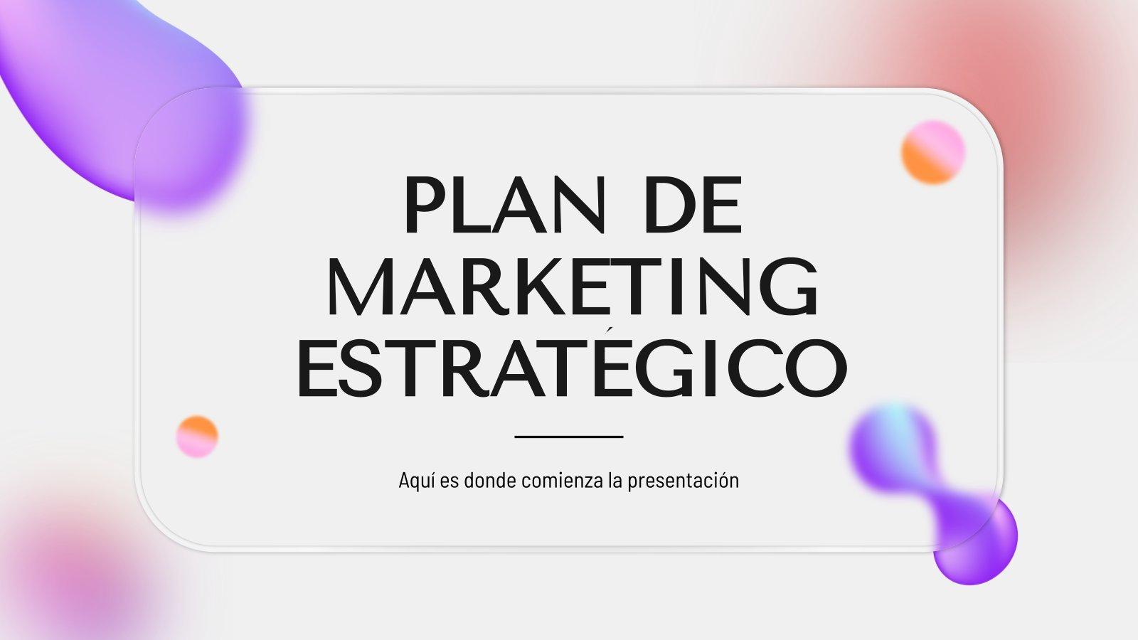 Plan de Marketing Estratégico presentation template