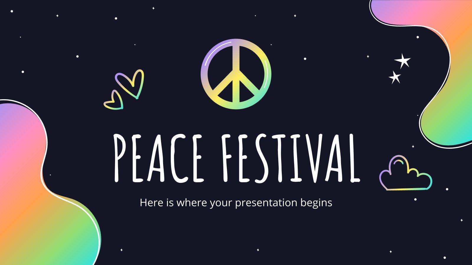 Modelo de apresentação Festival da Paz