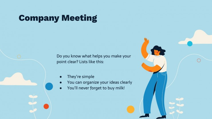 Best Meeting Plan for Business presentation template