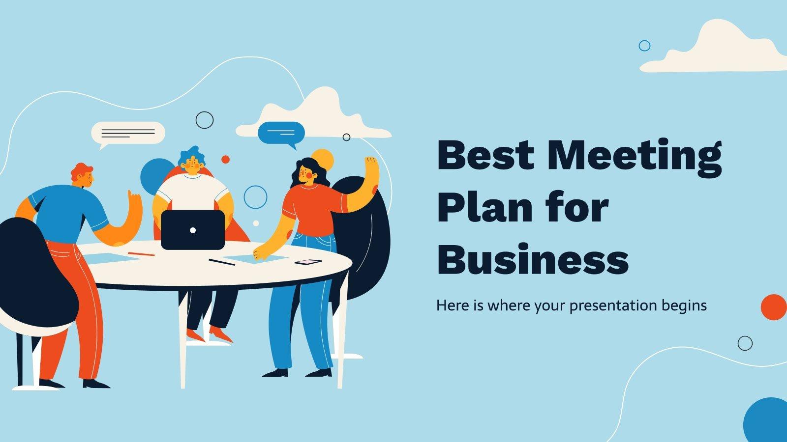 Plantilla de presentación La mejor planificación para tus reuniones