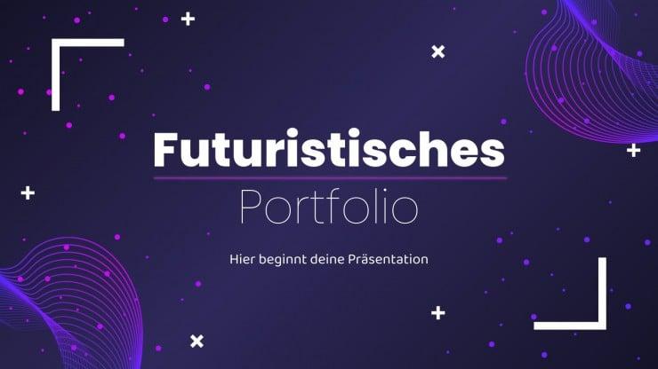 Futuristisches Portfolio Präsentationsvorlage