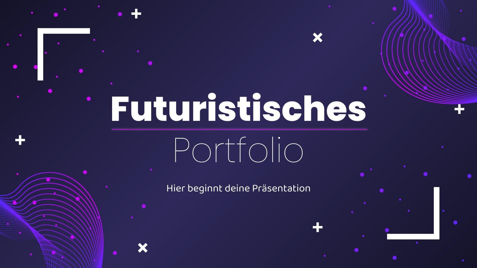 Plantilla de presentación Portfolio futurista