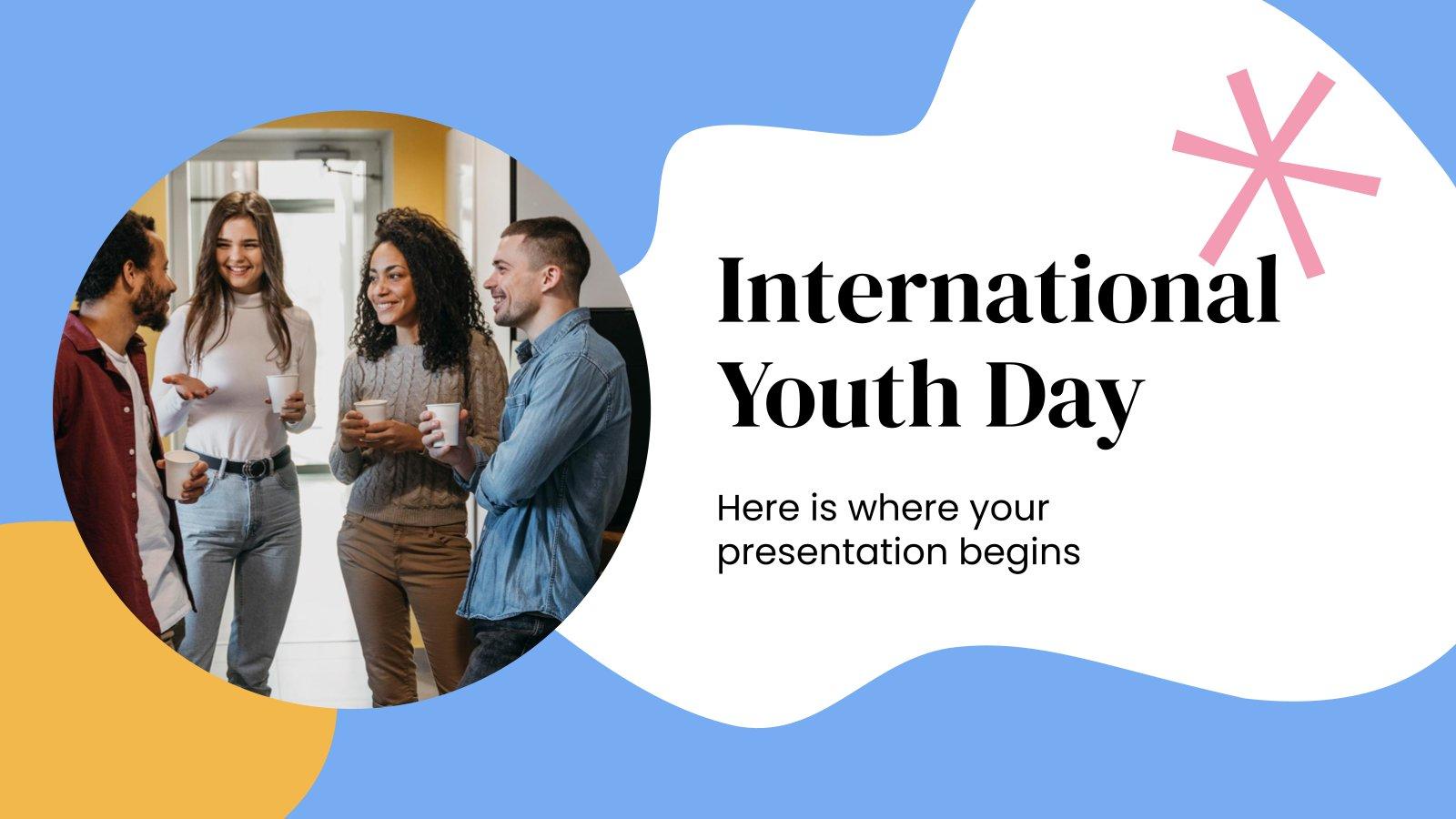 Modelo de apresentação Dia Internacional da Juventude