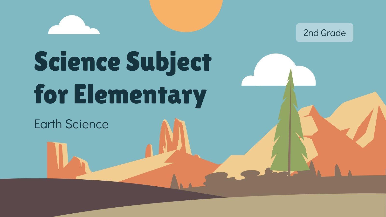 Sciences de la Terre pour l'école primaire : Modèles de présentation