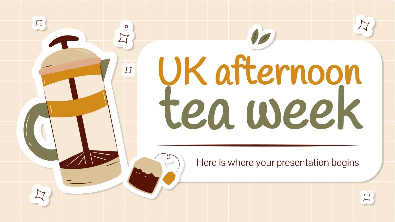 Minithème sur la semaine du thé au Royaume-Uni : Modèles de présentation
