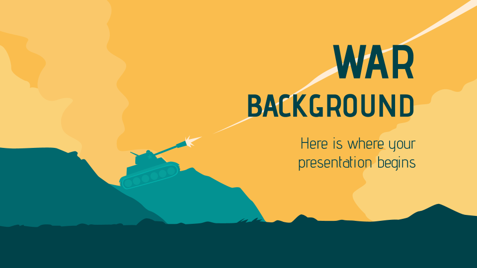 War Background presentation template