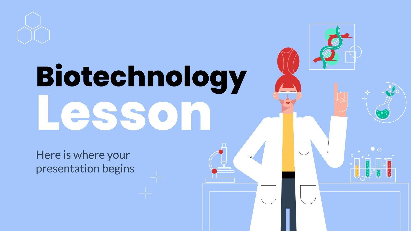 Biotechnologie Unterricht Präsentationsvorlage