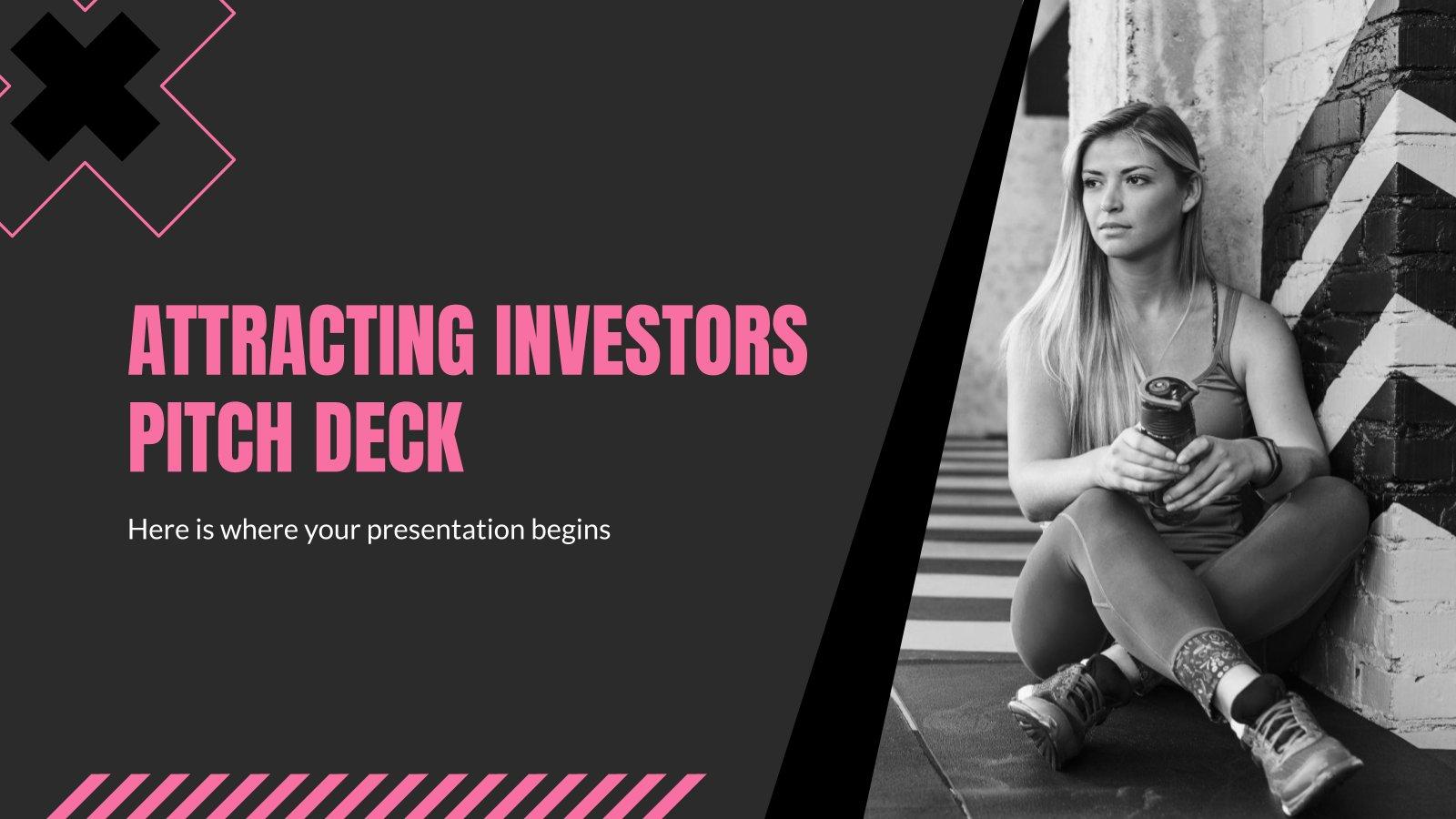 Plantilla de presentación Pitch deck para atraer inversores