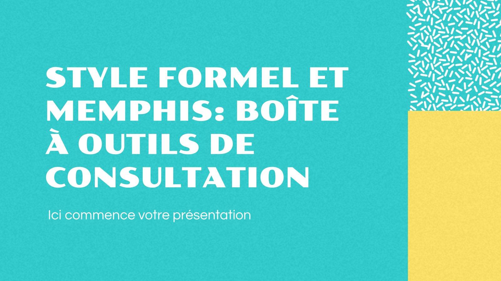 Style formel et Memphis: boîte à outils de consultation Präsentationsvorlage