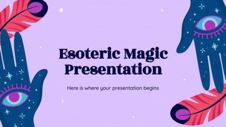 Esoterische Magie Präsentationsvorlage
