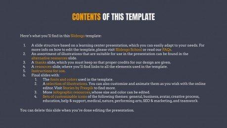 Law Center presentation template