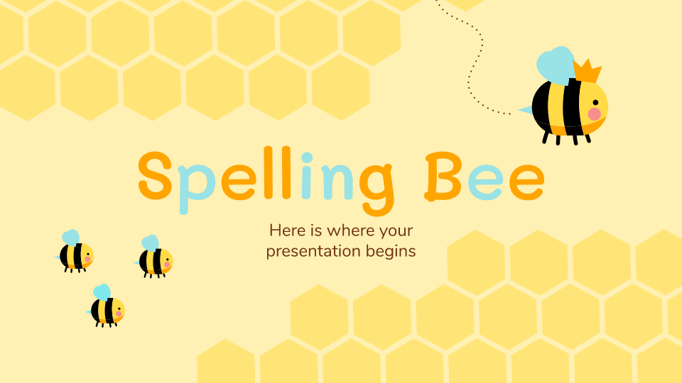 Spelling Bee presentation template