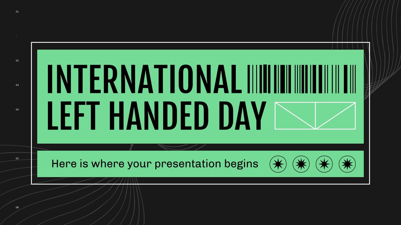 International Left Handed Day presentation template