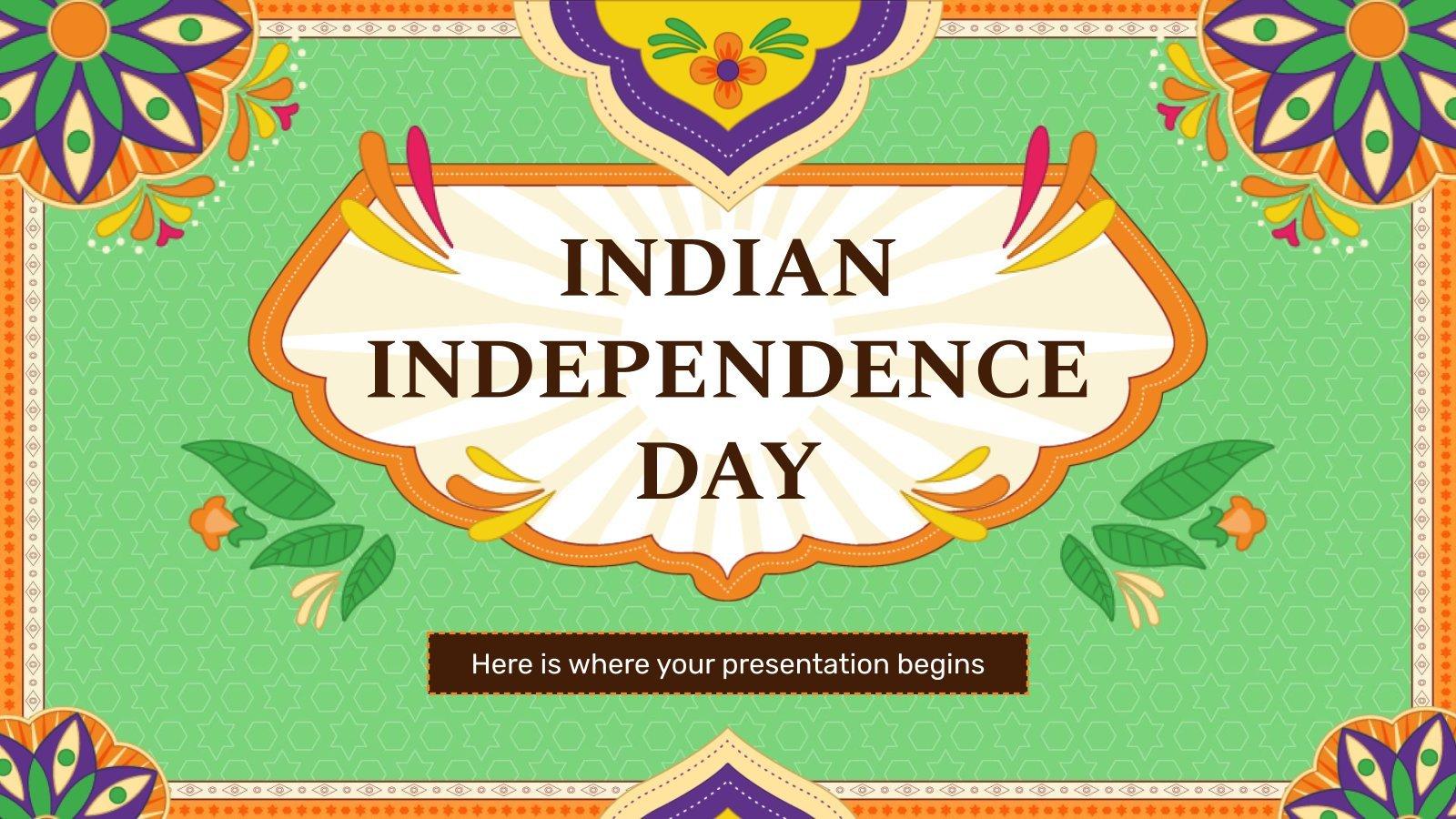 Jour de l'indépendance de l'Inde : Modèles de présentation