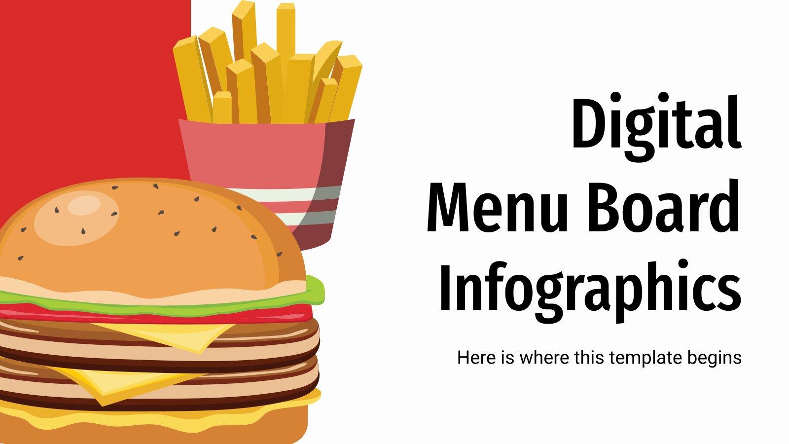 Modelo de apresentação Infográficos de menus digitais