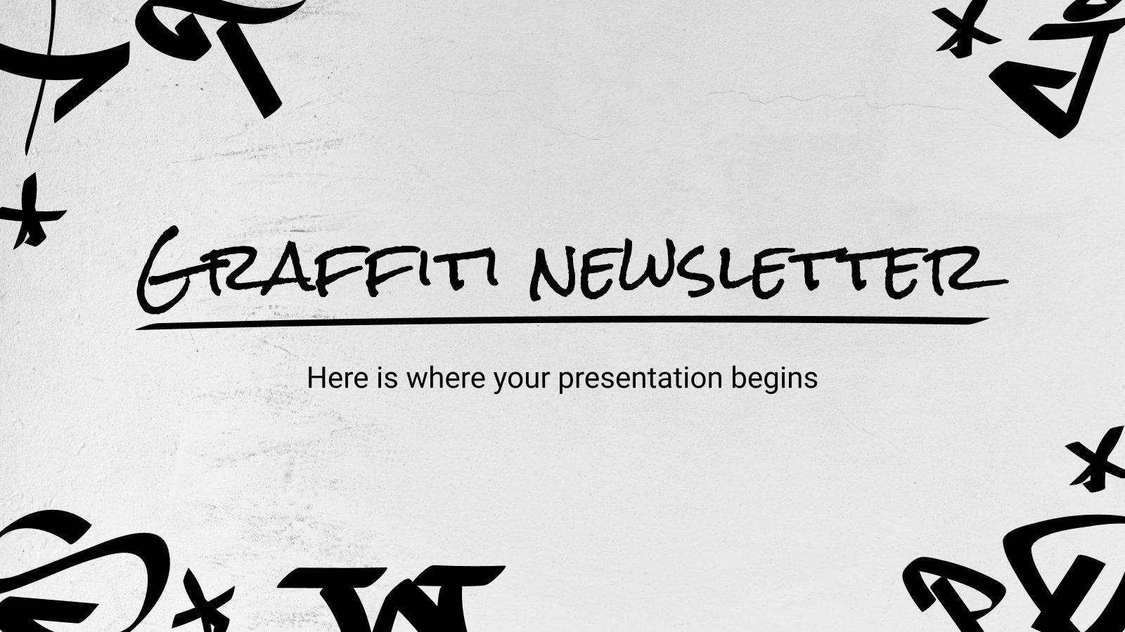 Newsletter Graffiti : Modèles de présentation