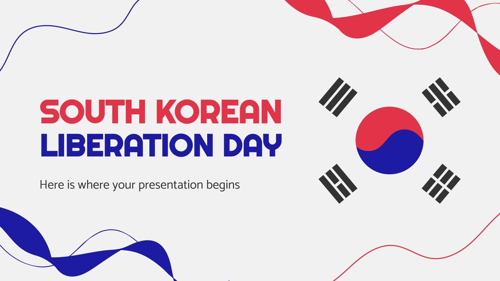 Plantilla de presentación Día de la Liberación de Corea
