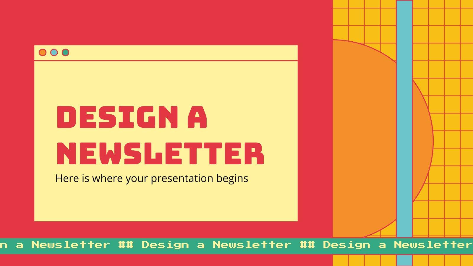 Einen Newsletter gestalten Präsentationsvorlage