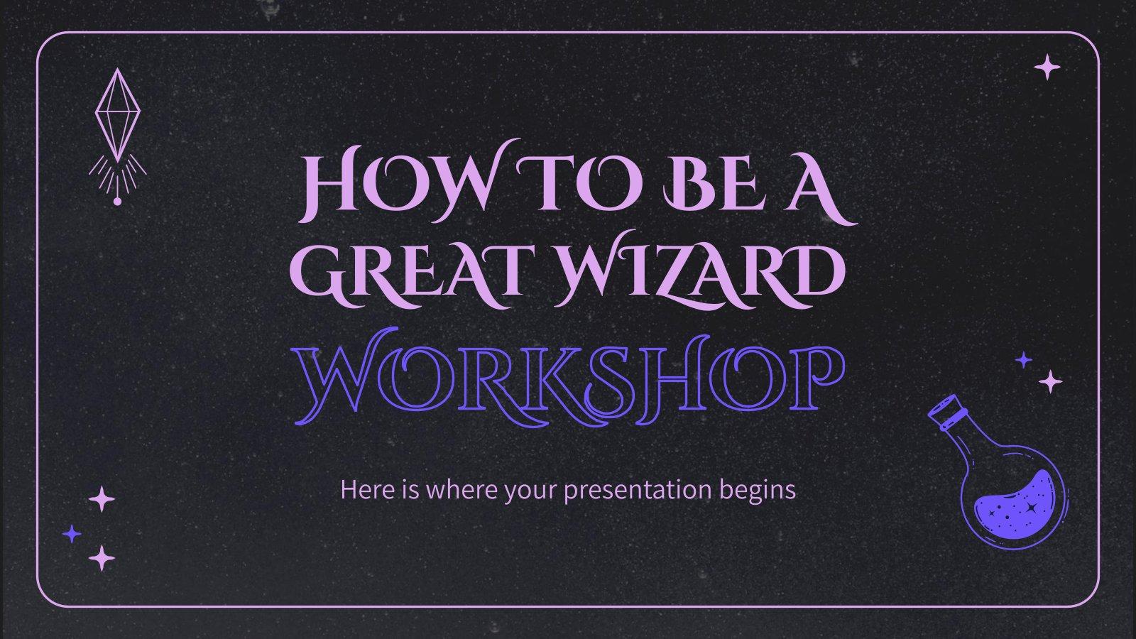 Workshop für Zauberer Präsentationsvorlage