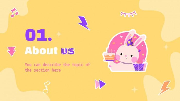 Plantilla de presentación Marketing plan de Cumpleaños