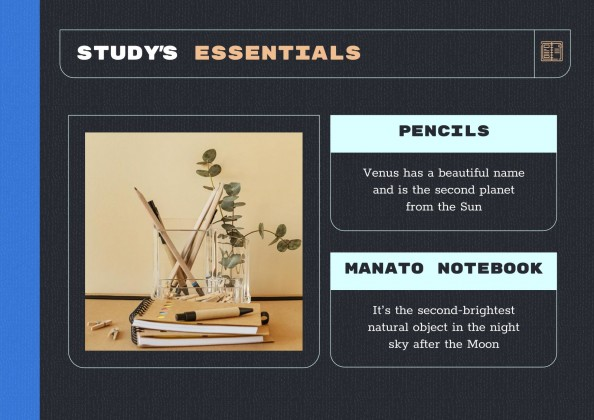 Manato Notebook Planners for Students presentation template