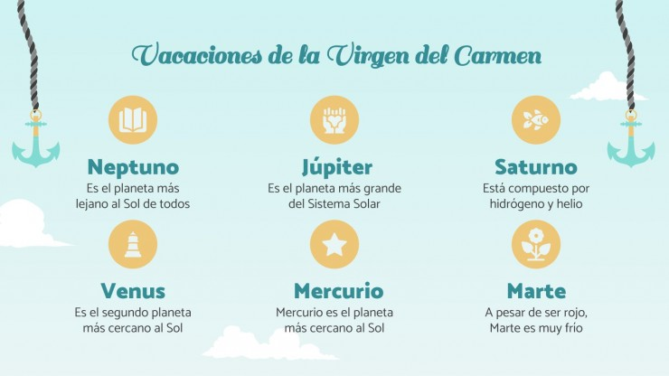 Fiesta de la Virgen del Carmen presentation template