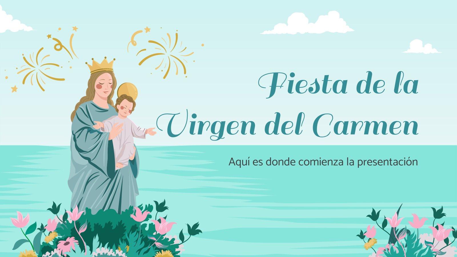 Modelo de apresentação Festa de Nossa Senhora do Carmo