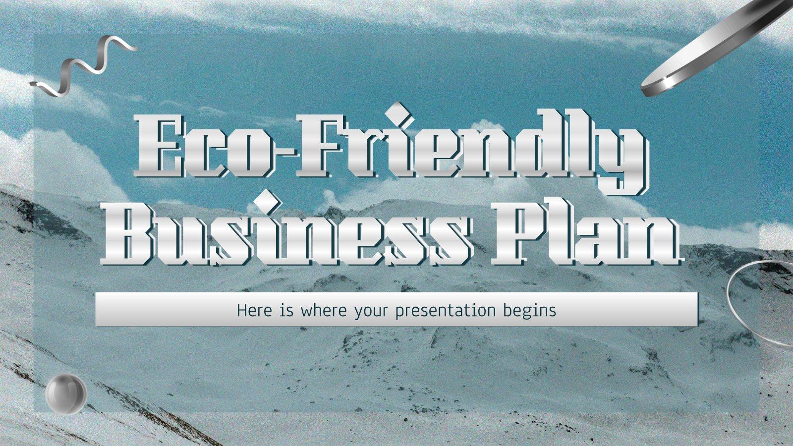 Modelo de apresentação Plano de negócios ecológico