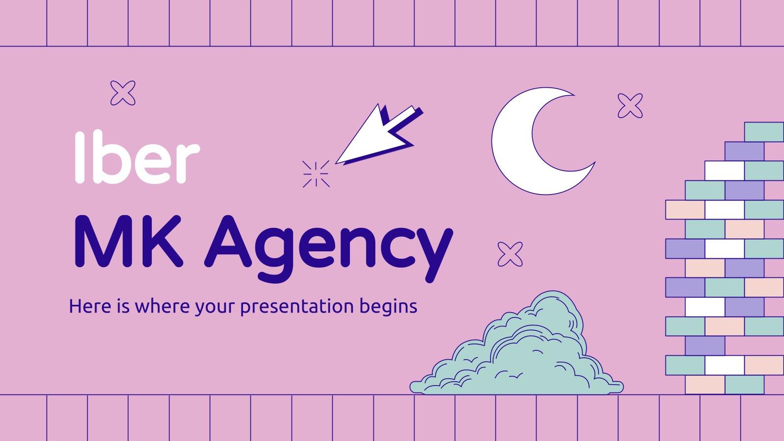 Modelo de apresentação Agência de marketing Iber