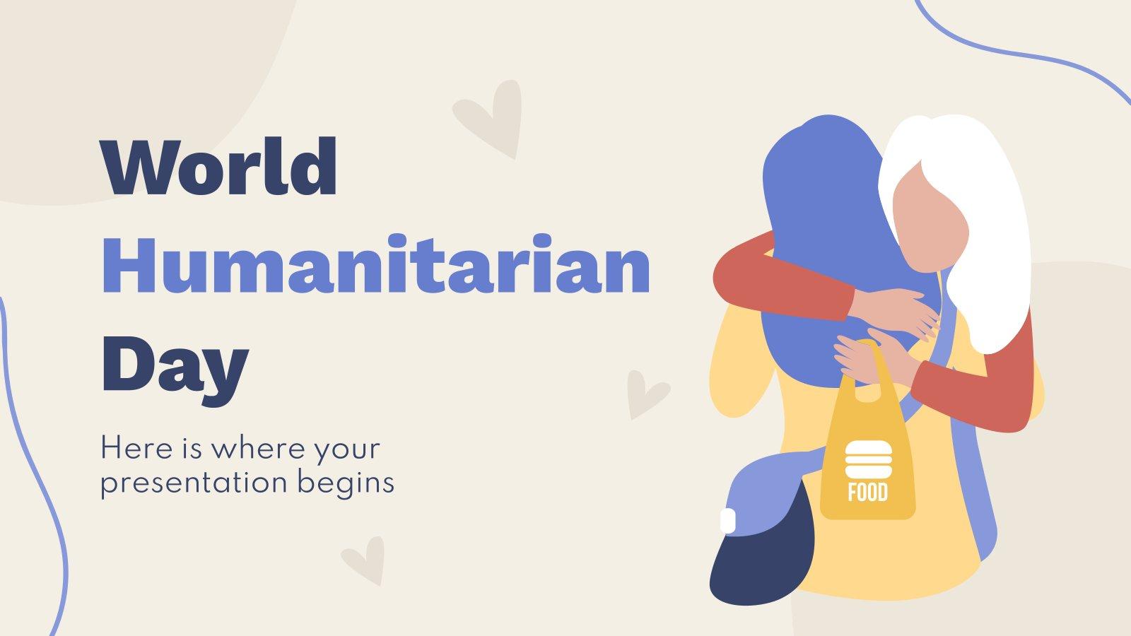 World Humanitarian Day presentation template