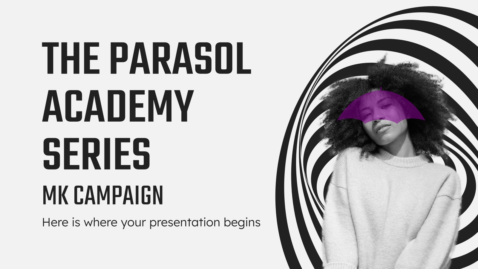 The Parasol Academy Series MK Campaign presentation template