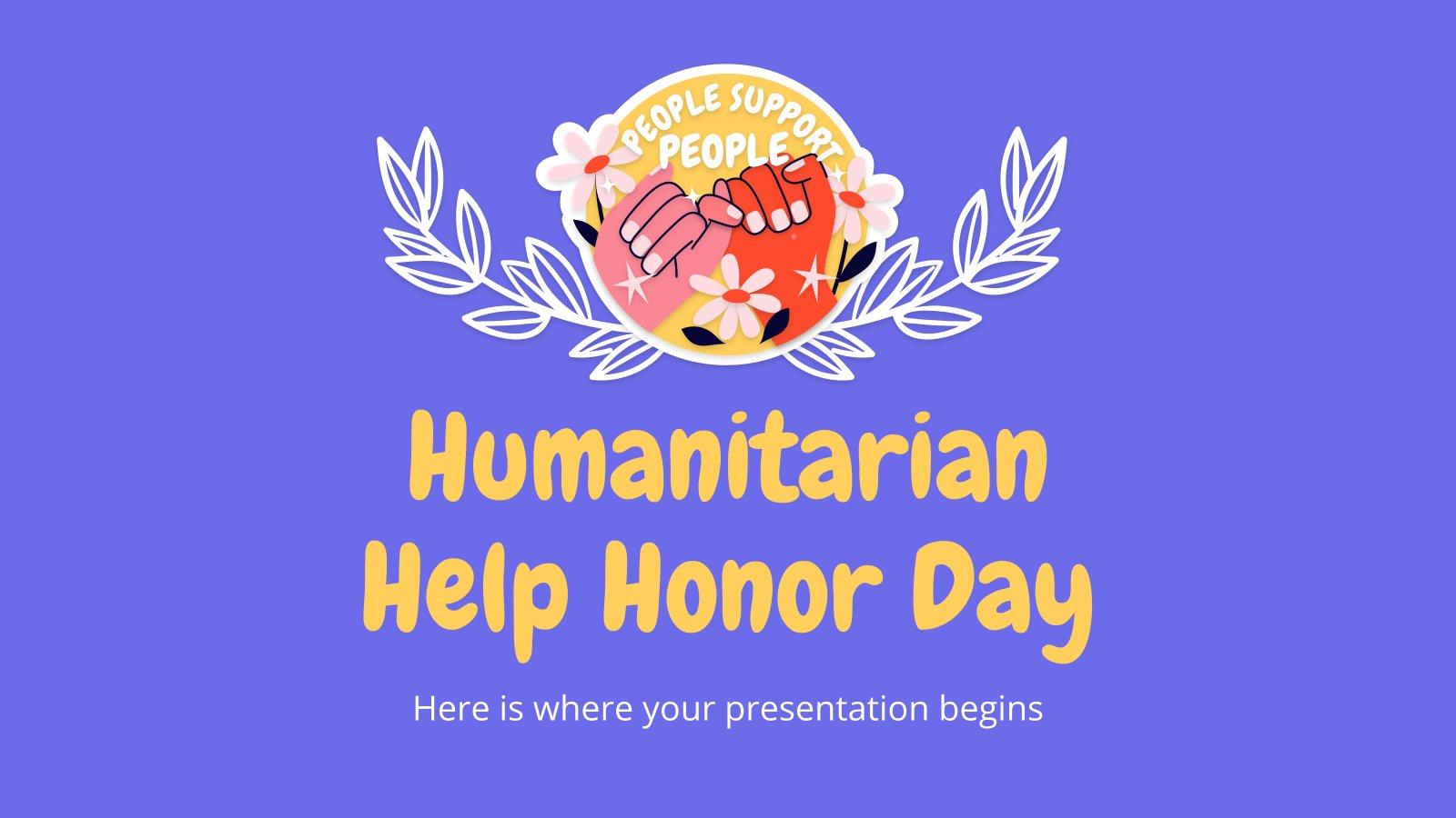 Plantilla de presentación El Gran Día de la Asistencia Humanitaria