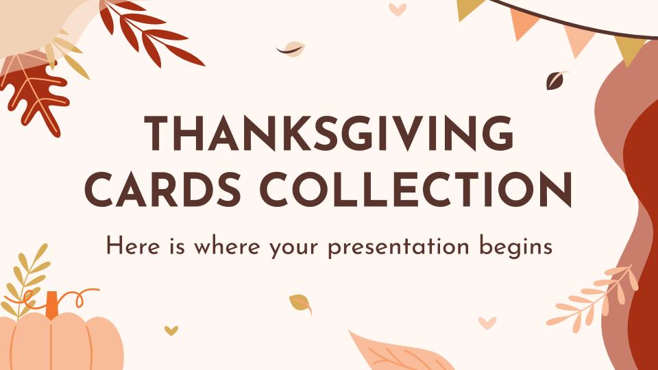 Modelo de apresentação Cartões de Ação de Graças