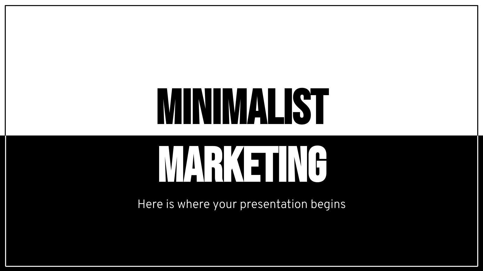 Minimalist Marketing Plan presentation template