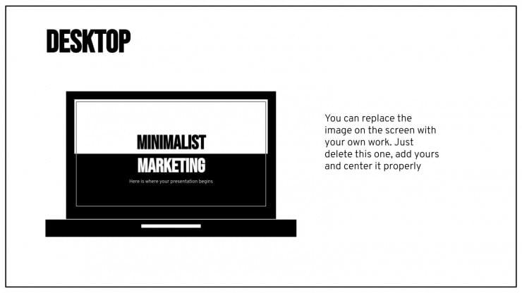 Minimalistischer Marketingplan Präsentationsvorlage