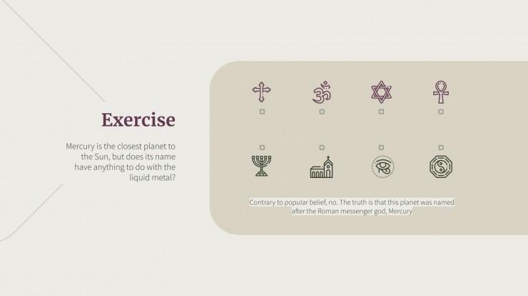 Religionsunterricht Präsentationsvorlage