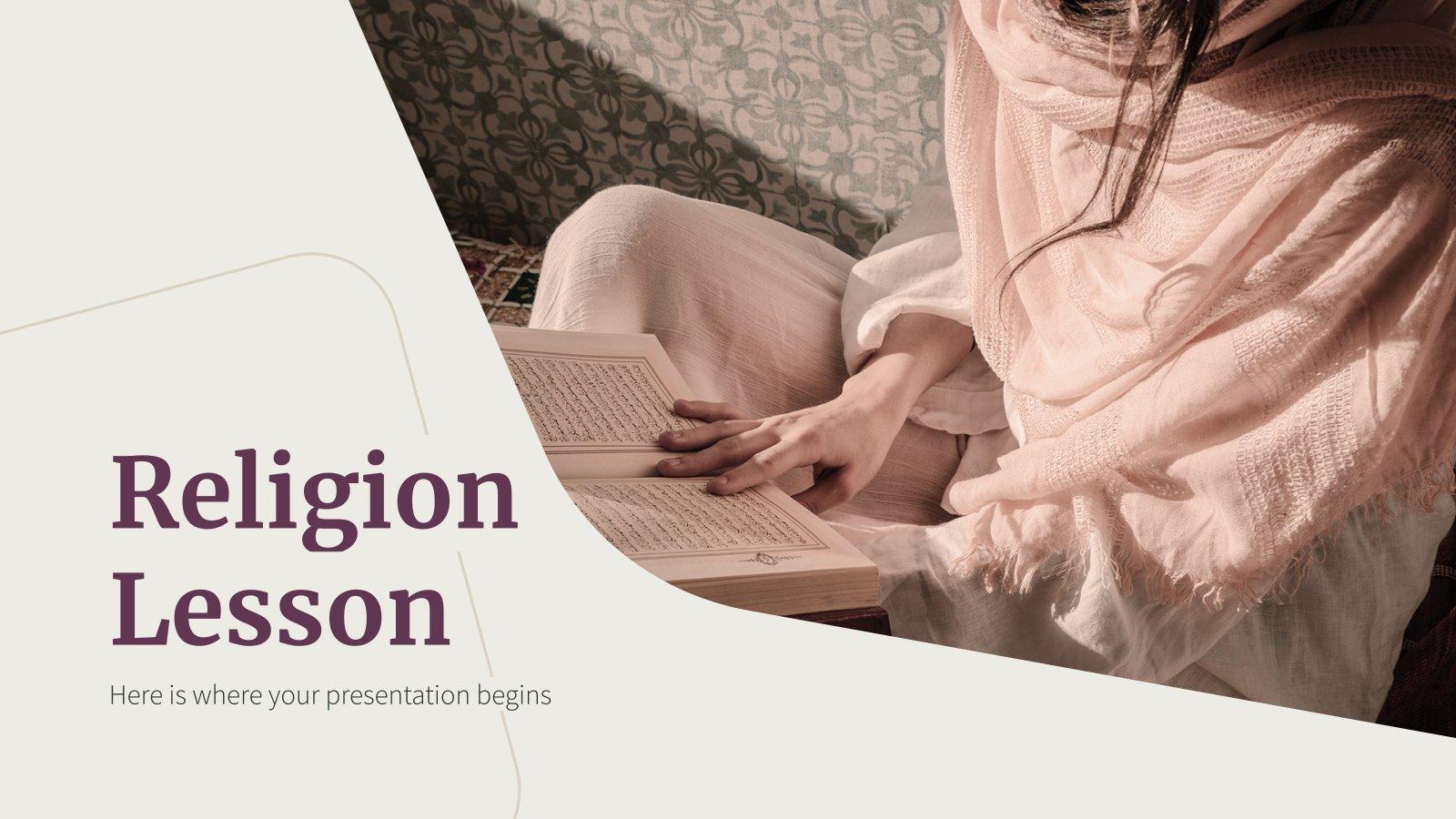 Plantilla de presentación Lección de religión