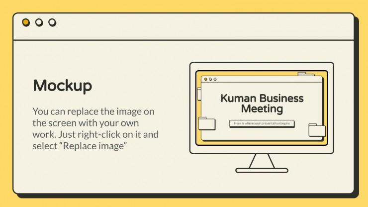 Kuman Business Meeting Präsentationsvorlage