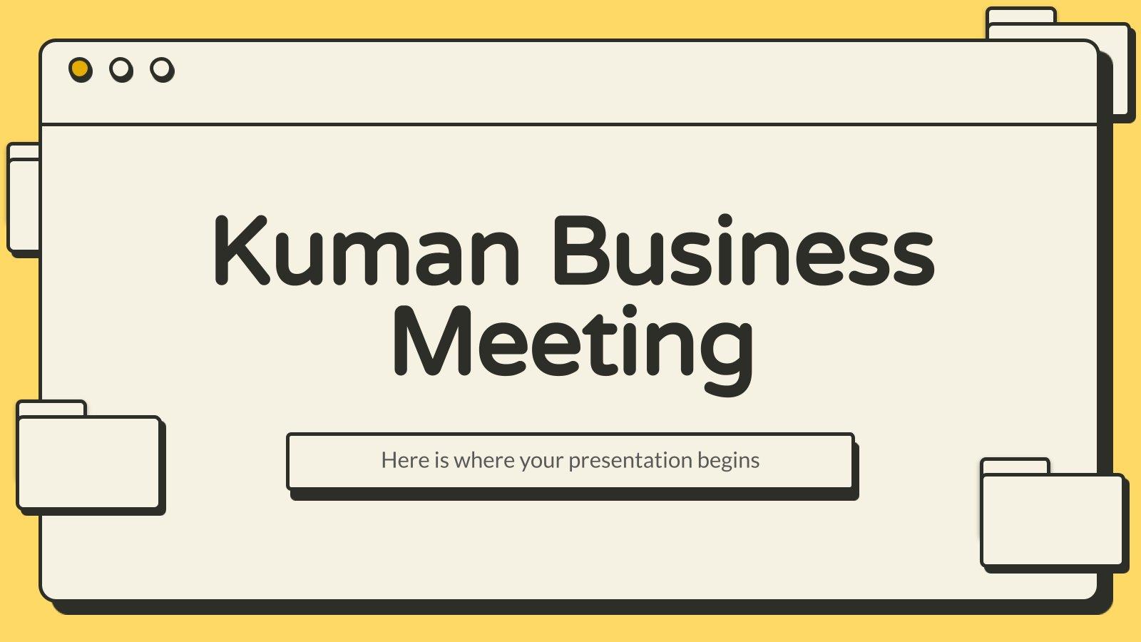 Plantilla de presentación Reunión de negocios Kuman