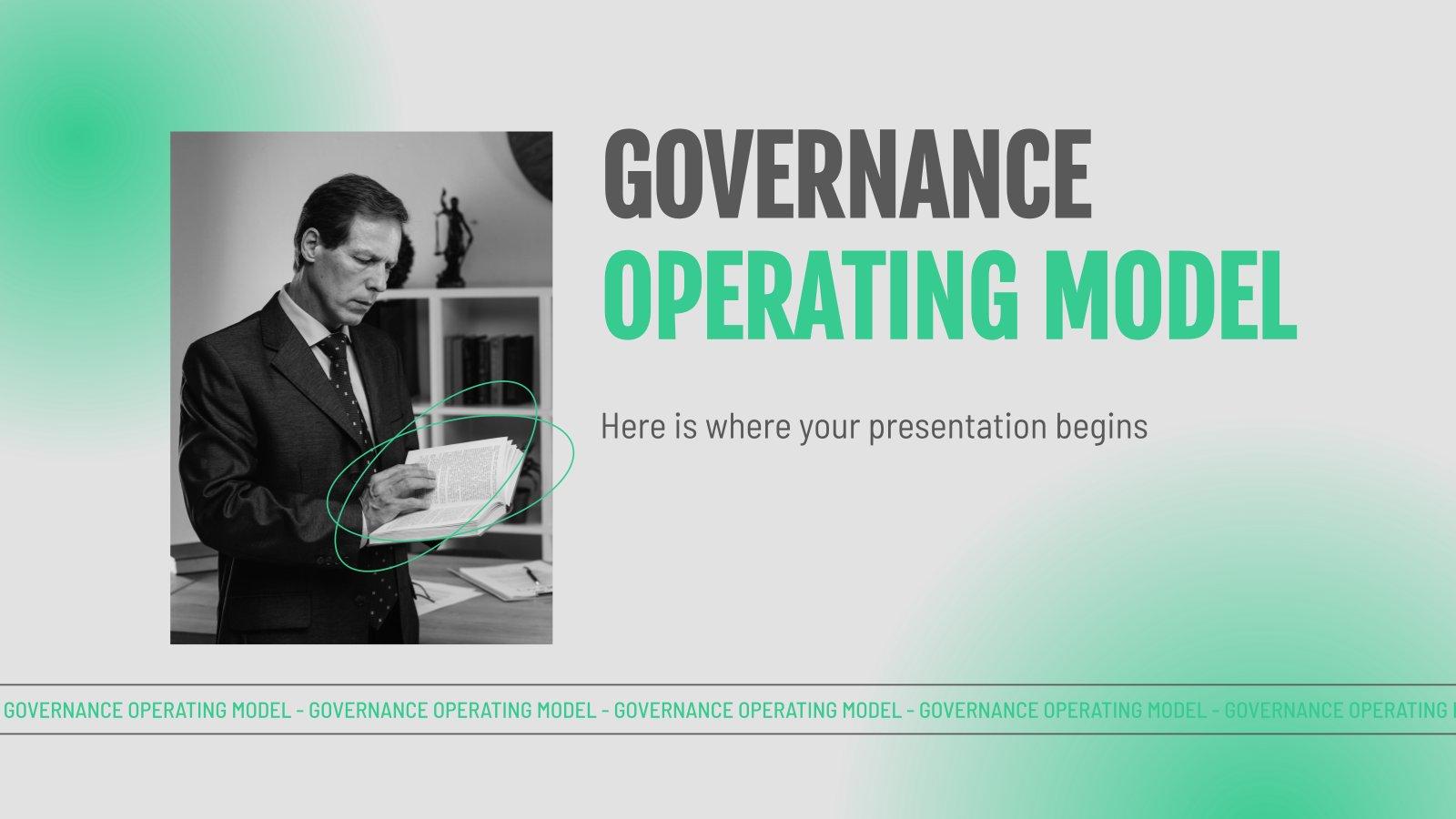 Governance-Betriebsmodell Präsentationsvorlage