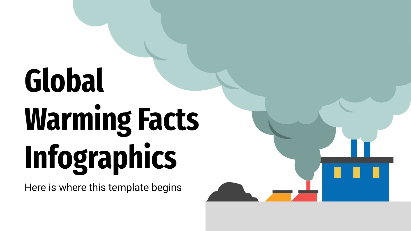 Infografiken zur Erderwärmung Präsentationsvorlage