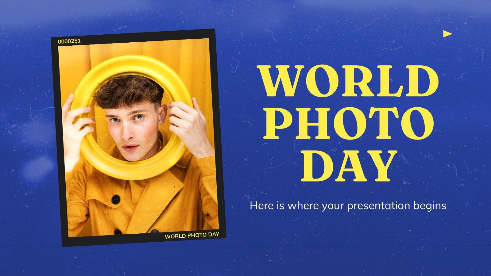 Journée mondiale de la photographie : Modèles de présentation