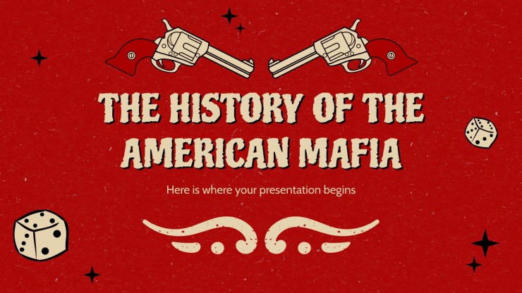 Plantilla de presentación La historia de la mafia americana