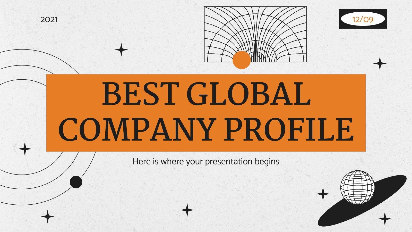 Best Global Company Profile presentation template