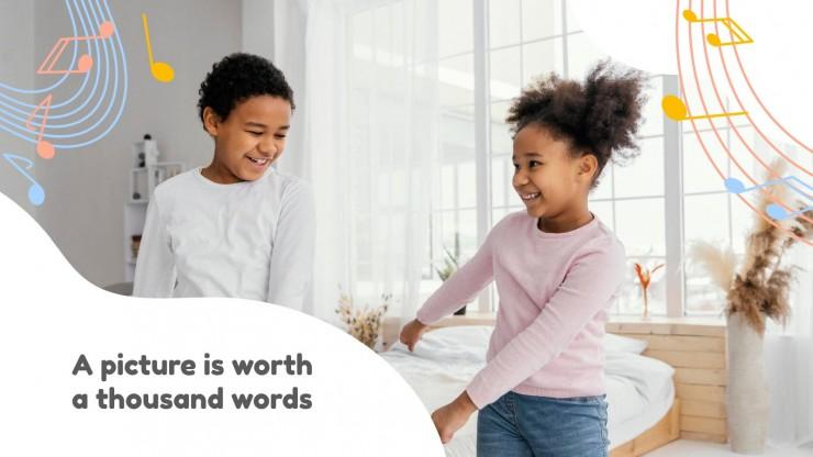 Plantilla de presentación Arte para preescolar: Baile