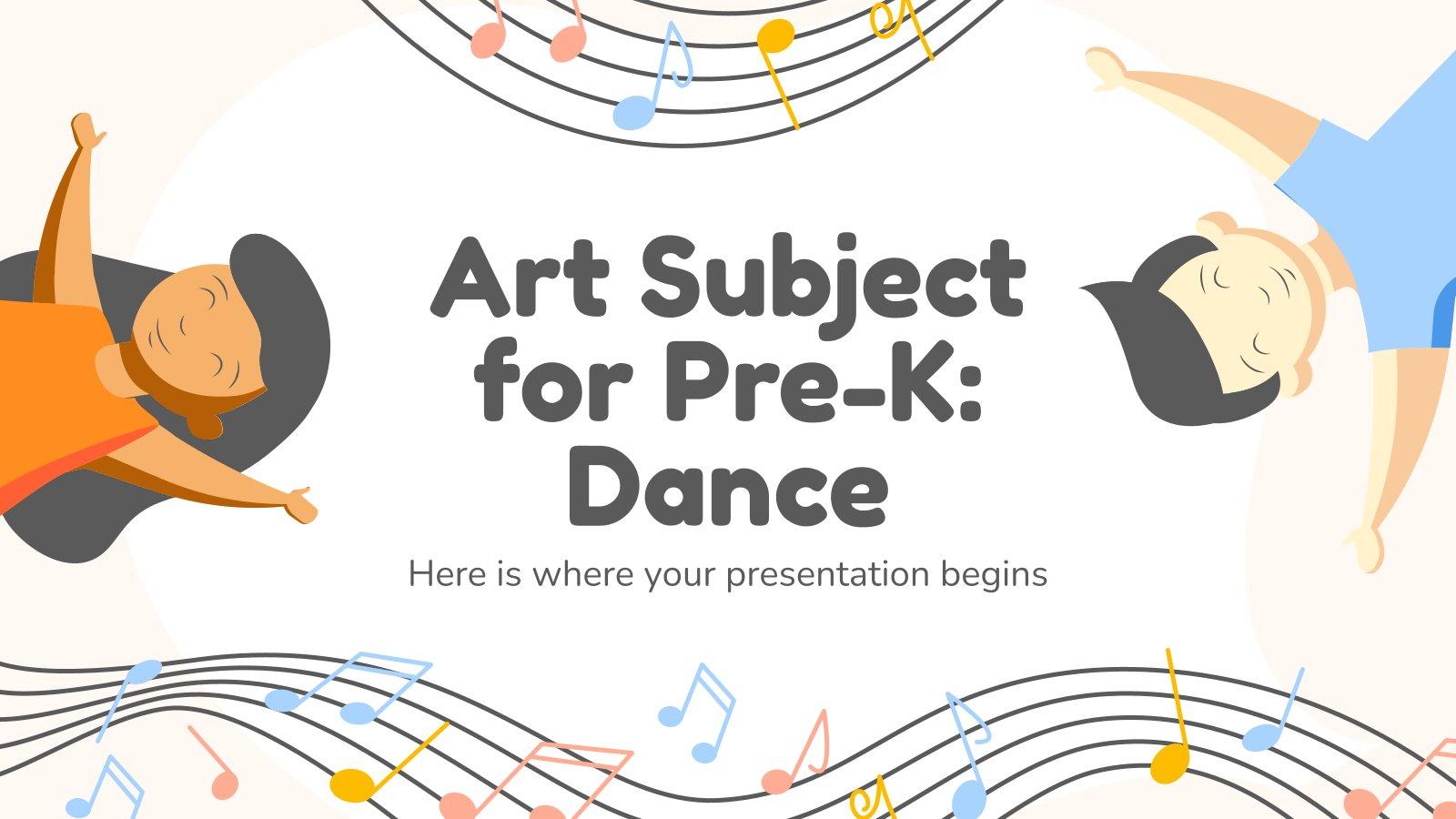 Modelo de apresentação Arte para pré-escola: Dança