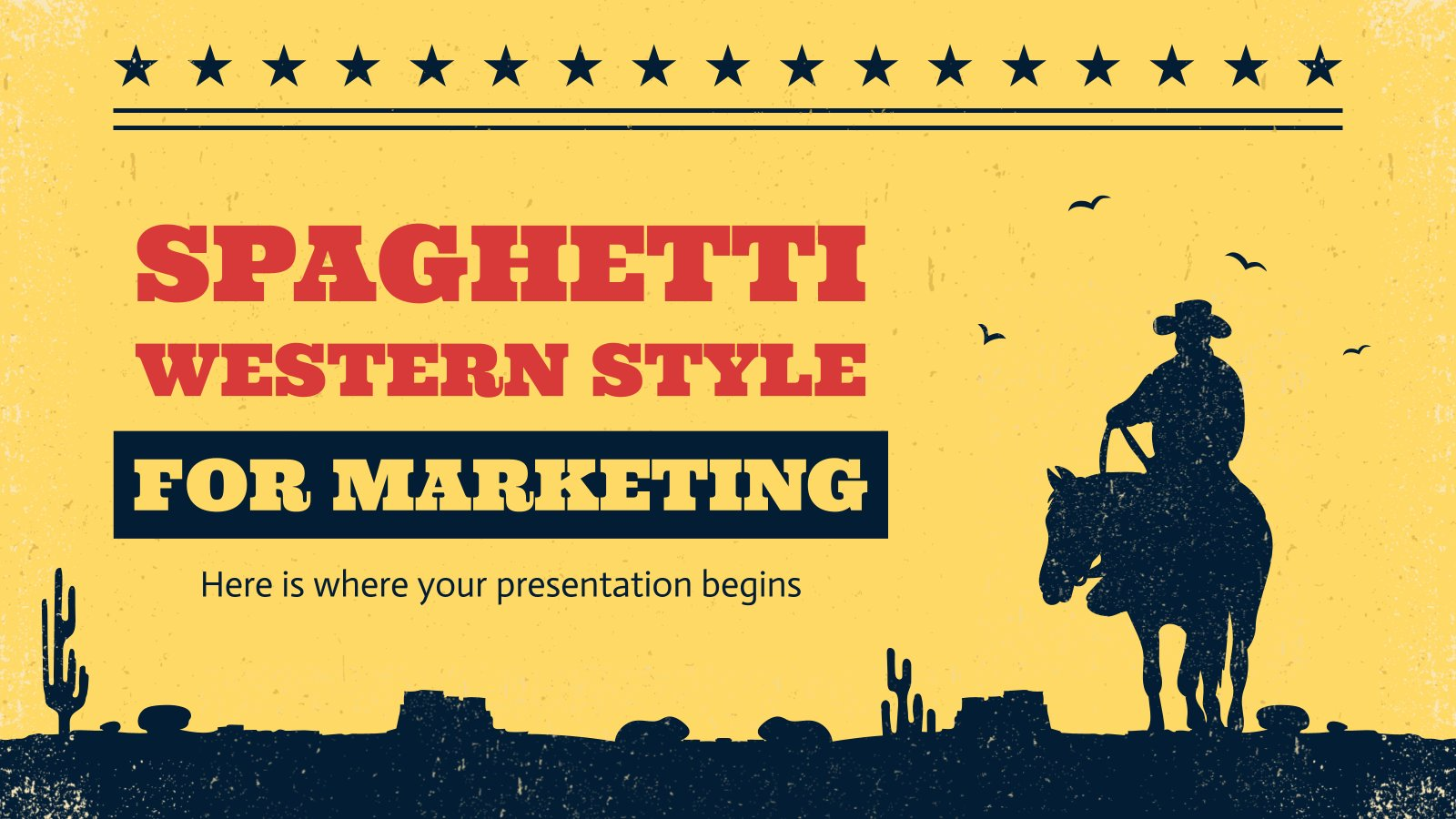 Spaghetti Western Style for Marketing presentation template