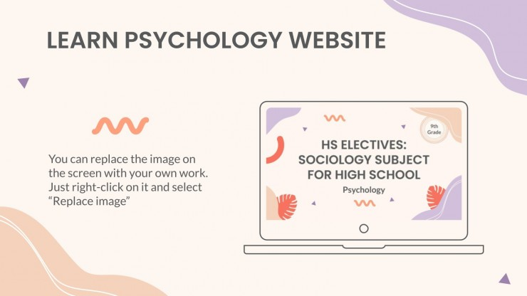HS Electives: Sociology Subject for High School - 9th Grade: Psychology presentation template