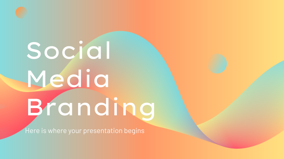 Social Media Branding Guidelines presentation template