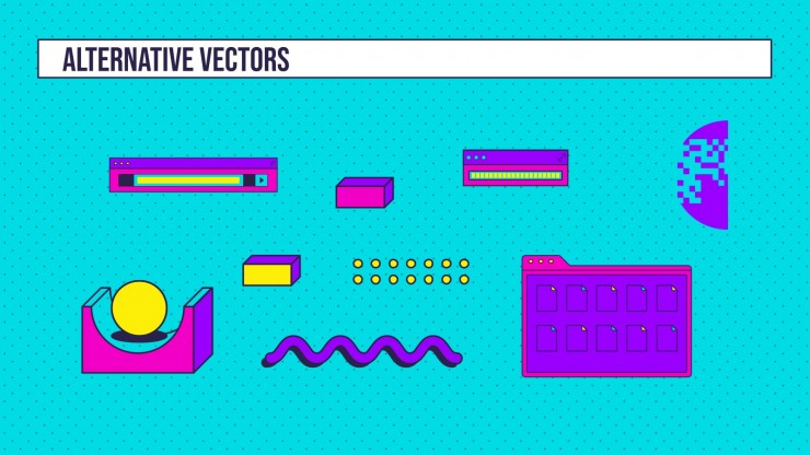Linear Retro Vaporwave Newsletter Präsentationsvorlage